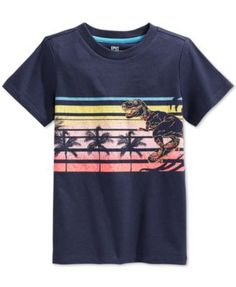 Epic Threads Little Boys' Sunset Dino T-Shirt, Only at Macy's