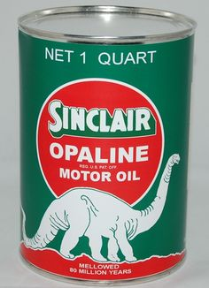 #Sinclair Opaline Oil Can. Shop now at www.gaspumpheaven.com