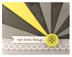 A pop of color, a ray of hope, a simple card to brighten someone's day. - Pazzles Craft Room