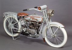 1916 Harley Davidson Twin Motorcycle, 2 cylinder 3 speed with chain drive. by Skinner Auctioneers
