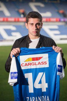 Luka Zarandia, nieuwe aanwinst voor KRC Genk, seizoen 2014-2015.