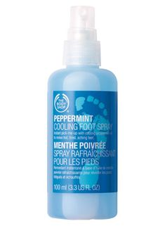 The Body Shop| Peppermint Foot Rescue. Great for tired, throbbing, dry and even smelly feet. Working on set, standing on your feet for 12 hours a day you have to take care of the very body part that's holding your entire body up.