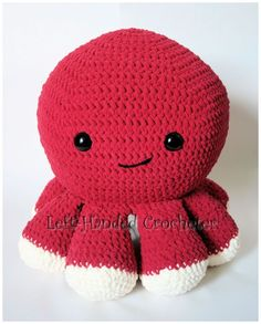 Giant octopus free crochet pattern
