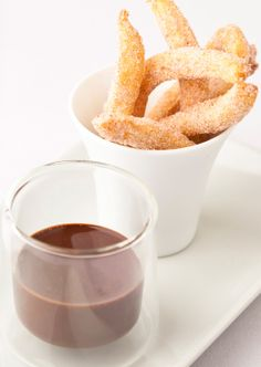 Cinnamon doughnuts and chocolate sauce - Kevin Mangeolles - Fun dessert to get people talking and put a smile on everyone's faces.