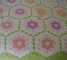 grandmother's flower garden quilt pattern   Grandmother's Flower Garden Quilt Pattern   Patterns Gallery