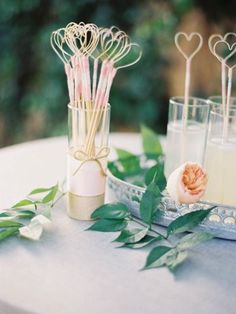 Heart Drink Stirrers: http://www.stylemepretty.com/2014/10/07/glamorous-floral-wedding-in-marbella-spain/ | Photography: Sandoval Studios Photography - http://www.sandovalstudios.com/about-us/