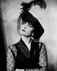 von-black:  [B/w photo of Siouxsie, in a veiled and feathered hat] never seen this photo before!