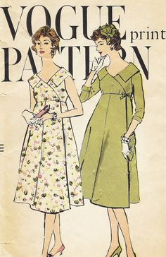 Maternity dress and coat. Vogue Pattern number 9510, 1960s. (x)