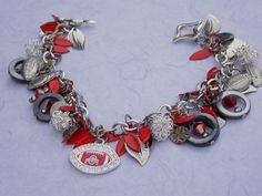Ohio State Buckeyes Charm Bracelet