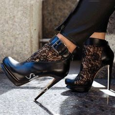 cool Sexy Black Suede Lace Cut-Outs High Heel Boots Sexy High Heels, Platform High Heels, High Heel Boots, Shoe Boots, Women's Shoes, Edgy Shoes, Unique Shoes, Hot Shoes, Cheap High Heels