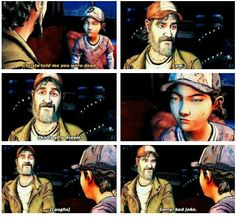 Kenny and Clementine in season 2 twdg | funny The Walking Dead (Telltale Game)