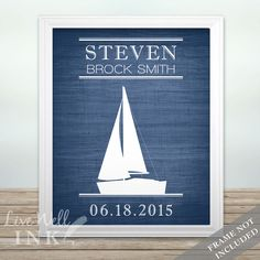 Sailboat Announcement - Print