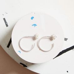 KIND Collection - Silver Solar Hoop earrings, Small.