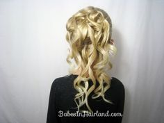 Cascading Feather Braided Updo | BabesInHairland.com