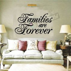 Families Are.. Family Wall Sayings Coverings Words Art Decor