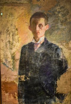 Edvard Munch - Self Portrait 1888 at Munchmuseet Oslo Norway