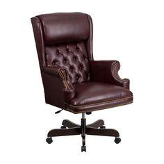 Flash Furniture Burgundy Traditional Executive Chair Ci-J600-By-Gg