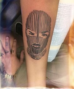 Woman in balaclava tattoo Dope Tattoos, Dream Tattoos, Badass Tattoos, Pretty Tattoos, Mini Tattoos, Leg Tattoos, Body Art Tattoos, Beautiful Tattoos, Small Tattoos