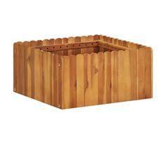 vidaXL Jardinera de madera maciza de acacia 50x50x25 cm | vidaXL.es