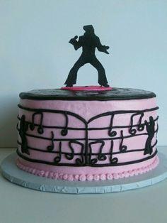 Elvis Elvis Cakes, Elvis Presley Cake, Grandma Birthday Cakes, Birthday Cakes For Women, Cake Icing, Buttercream Cake, Elvis Birthday Party, Birthday Bash, Cake Cookies
