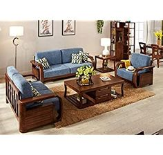 Latest Wooden Sofa Designs, Wooden Sofa Set Designs, Sofa Bed Design, Living Room Sofa Design, Sofa Furniture, Living Room Furniture, Furniture Design, Living Room Decor Country, Wood Sofa