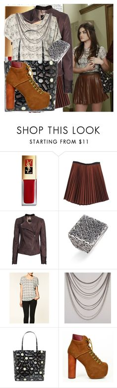 """Aria Montgomery/ PLL"" by dictatoroftaste ❤ liked on Polyvore featuring Yves Saint Laurent, A.L.C., SLY 010, Lois Hill, Zara, Kate Spade and Jeffrey Campbell"