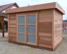 Abris de jardin en bois à toit plat pour un look moderne