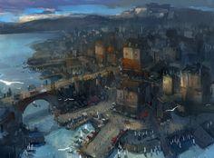 The Art of Park Jong Won Daily Art Fantasy town Fantasy landscape Fantasy concept art