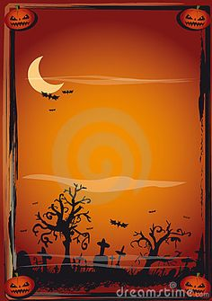 100 Best halloween vector greeting card and wallpaper Template ...
