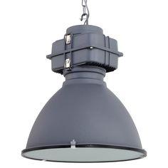 Geef je woonkamer een industriële touch met deze stoere hanglamp! De ketting in combinatie met de betonnen look geeft de lamp een robuuste uitstraling. De lamp voelt zich thuis in een industrieel of Scandinavisch interieur. De metalen kap heeft een doorsnede van 47 cm. De E27 fitting maakt de lamp geschikt voor lichtbronnen met een vermogen tot 60 Watt.