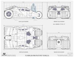 The Dork Review: Rob's Room: Batmobile Blueprints & Schematics (mostly)