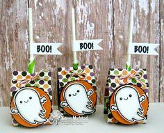 Your Next Stamp: Halloween Cuties stamp set, Ghostly Greetings stamp set, Fun Faces stamp set, Lollipop Cover Die