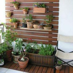 Vertical Garden Design on Balcony Wall - Unique Balcony & Garden Decoration and Easy DIY Ideas Small Balcony Design, Vertical Garden Design, Walled Garden, Outdoor Art, Outdoor Balcony, Balcony Ideas, Garden Projects, Indoor Plants, Home And Garden