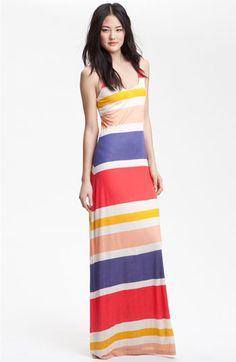 racerback stripe maxi dress via splendid. $158.