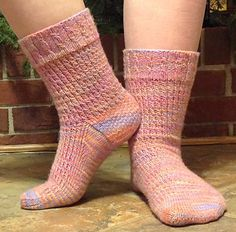 This was originally designed as a Mystery Sock for the Sock Club at Knitwits Contemporary Yarn Shop. You need about 405-415 yards of a nice, springy yarn.