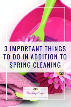 When we talk about spring cleaning it typically means a thorough cleaning of your home at the beginning of spring. It's a great way to clean areas of your home that get missed throughout the year and refresh your decor. I have realized that there are a few important things to do in addition to spring cleaning.