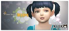 Sims 4 CC's - The Best: Eyelashes Toddlers Version by Kijiko