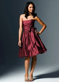 """Love this dress and color  """"berry"""" by David's Bridal Dress Style 81255"""