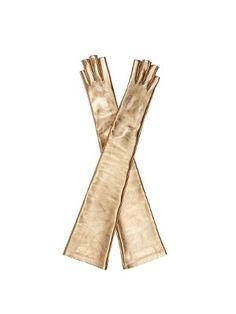 Metallic fingerless elbow-length gloves | Gucci | MATCHESFASHION.COM UK