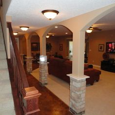 Basement Columns Design Ideas, Pictures, Remodel, and Decor - page 14