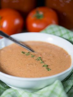 FRESH TOMATO BASIL SOUP