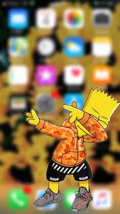 Wallper Backround Bart Simpson Home Screen The Simpsons Swag