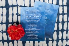 blue wedding invitations - photo by Morgan Trinker http://ruffledblog.com/the-notwedding-birmingham