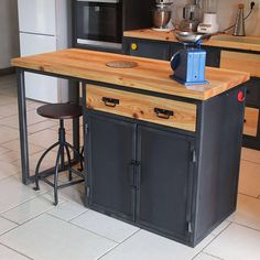 Furniture For Sale Online Info: 9361534334 Metal Furniture, Industrial Furniture, Kitchen Furniture, Rustic Furniture, Cheap Furniture, Kitchen Units, New Kitchen, Industrial Kitchen Island, Island Kitchen