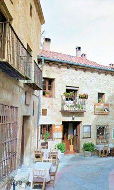 Corner in Medieval Villa of Pedraza, Segovia, Spain