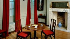 A parlour in 1745 at The Geffrye Museum - This room was furnished to represent a typical parlour for a middle class family such as the Arsenaults in London.
