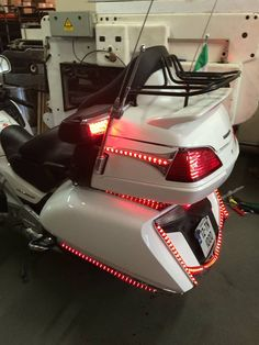 Just finished installing new lights on a customers bike. Before and after pictures. Before And After Pictures, Bike Accessories, Motorcycle Parts, Motorbikes, Honda, Motorcycles, Garage, Lights, Car