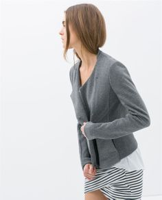 JACKET WITH EDGING from Zara