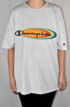 4dec6830980c Items similar to 90s Champion XL Big Logo Spell Out Vtg Vintage USA Hip Hop  on Etsy