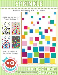 (7) Name: 'Quilting : SPRINKLE pdf quilt pattern